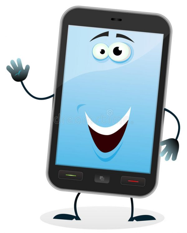 cartoon-mobile-phone-character-26378470