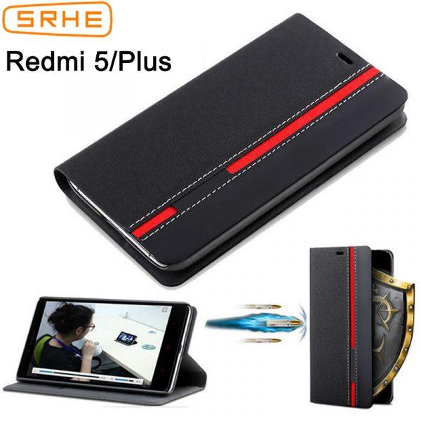Xiaomi-Redmi-5-Case-Cover-For-Xiaomi-Redmi-5-Plus-Flip-Luxury-Leather-Silicone-Stand-Case